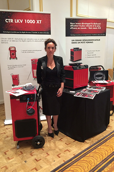 Solene Mennecier from Corroventa, at an exhibition at Petit Palais in Paris